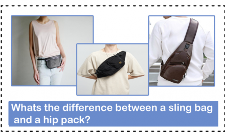 Whats the difference between a sling bag and a hip pack?