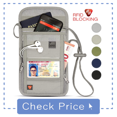 Lewis N. Clark RFID Blocking Stash Neck Wallet