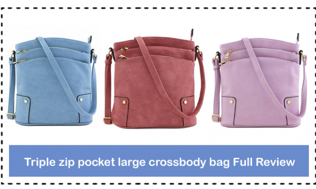 Triple zip pocket large crossbody bag Full Review