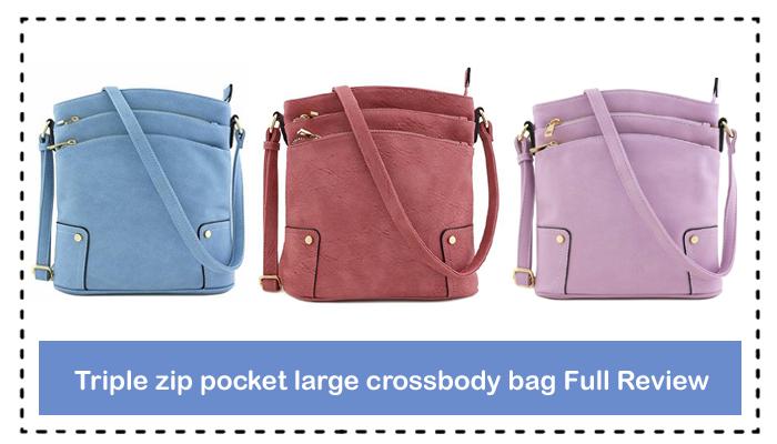 Triple zip pocket large crossbody bag Full Review