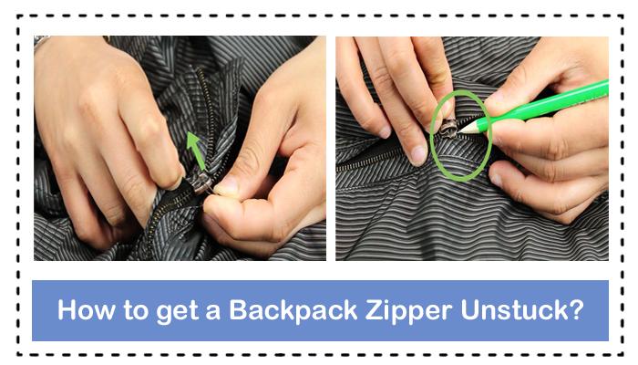 How to get a Backpack Zipper Unstuck?